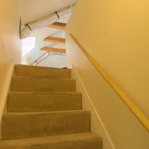 Stairwell to attic suite