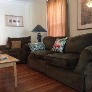 Comfy couches and chairs in shared living room