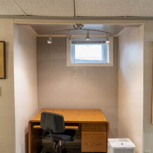 Small workspace for studying or working from home